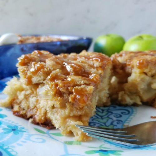 Apple Studded Coffee Cake