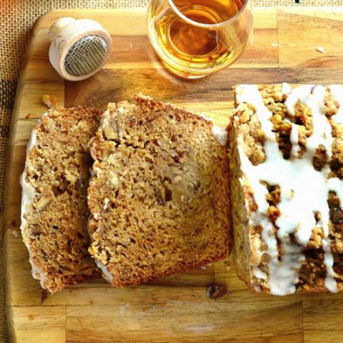 Honey Cake with Whiskey and Pecans
