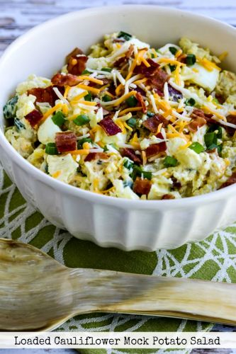 Loaded Cauliflower Mock Potato Salad
