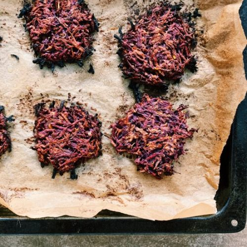 Healthy Sweet Potato Latkes