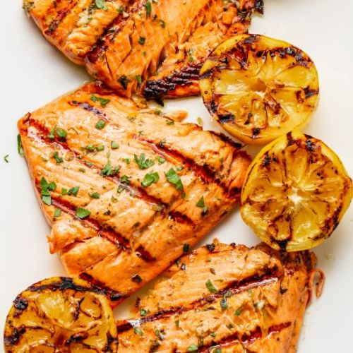 Marinated & Grilled Salmon Recipe