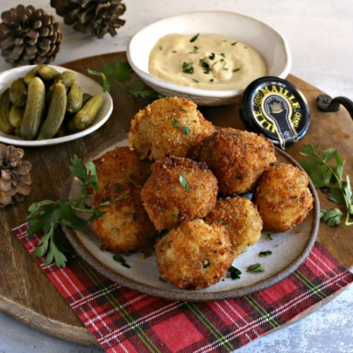 Mustard Coated Crispy Potato Balls