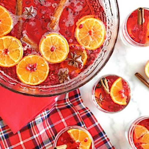 Cranberry Vodka Christmas Punch