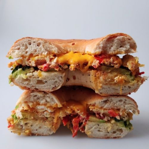 Avocado & Veggie Breakfast Sandwich