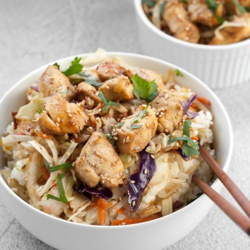 Egg Roll In A Bowl With Chicken