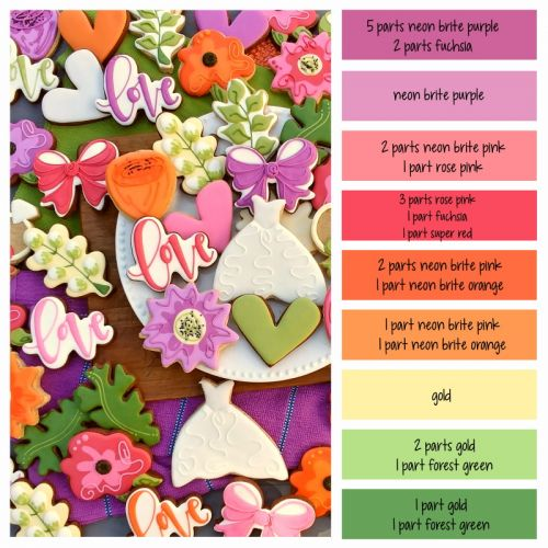 Garden Wedding Color Palette and Icing Formulas