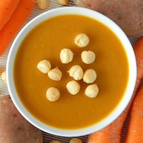 BLW Sweet potato carrot soup