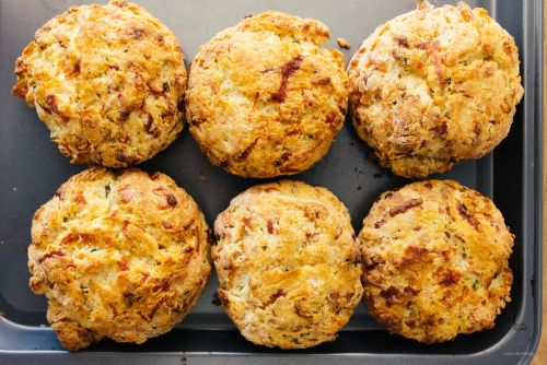Smoked Salmon and Chive Biscuits