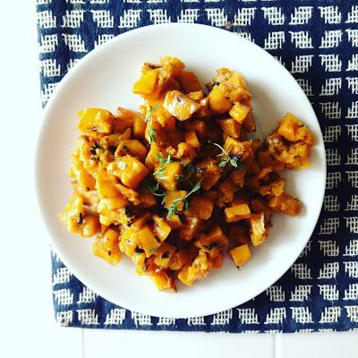 Balsamic Butternut Squash with Sage & Thyme