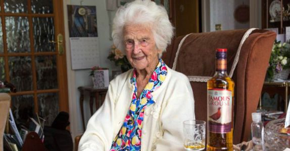 The Secret to Living to 112 Years Old is Whisky, Says Oldest Person in Britain