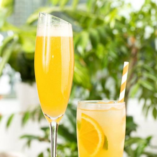 Healthy Ginger Ale and Orange Juice