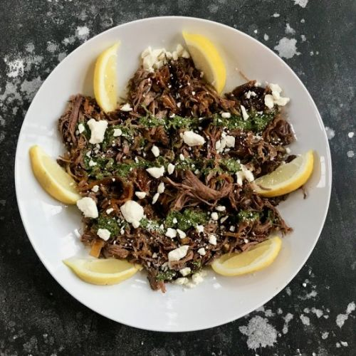 8 Hour Roasted Lamb with Feta