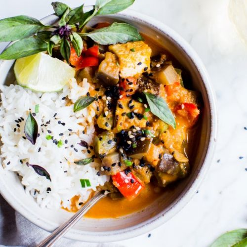 Thai Red Curry with Eggplant and