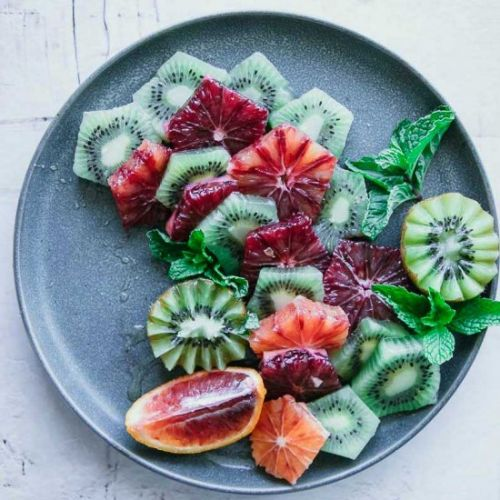 Blood Orange Kiwi Mint Salad