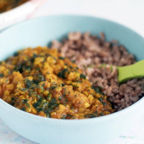 Easy red lentil dal