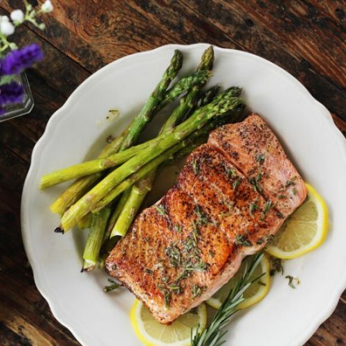 Pan Seared Salmon + Herbed Butter