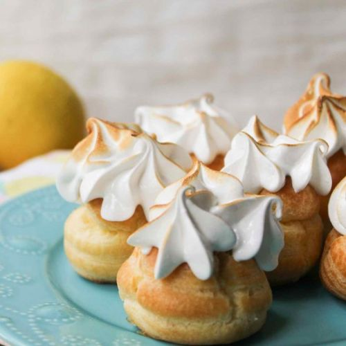 Lemon Meringue Cream Puffs