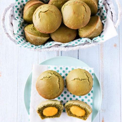 Matcha Buns with Cheese