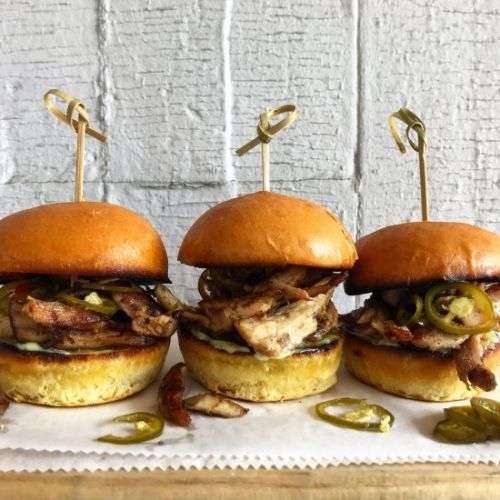 Jerk Chicken Sliders