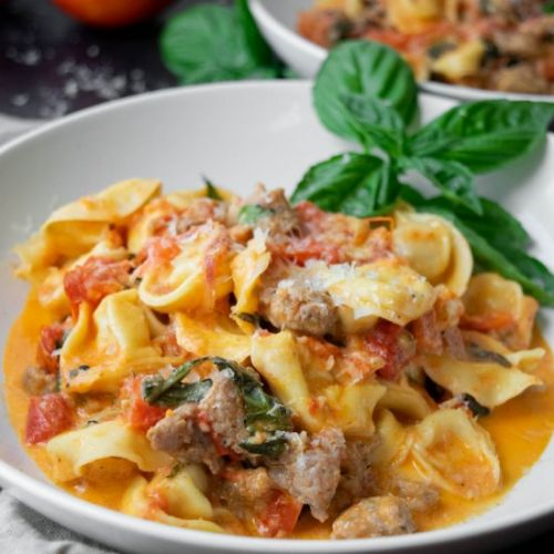 Tortellini with Roasted Tomatoes