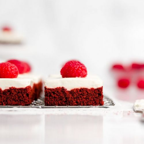 Healthy Red Velvet Cookie Bars