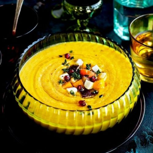 Roasted Vegetable Feta Bisque