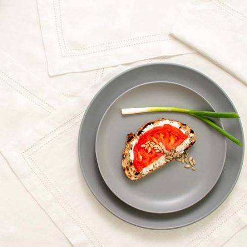 Open-face Tomato Goat Cheese Sandwich