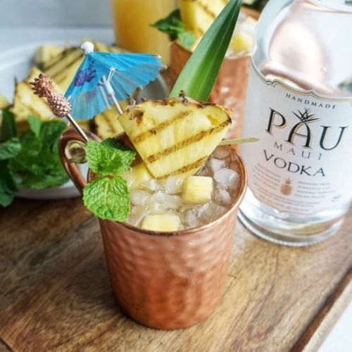 Grilled Pineapple Mules