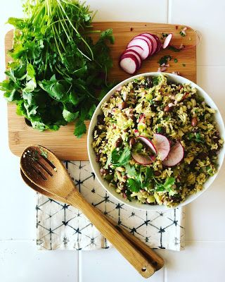 Red Bean Basmati Salad with Radish and Cilantro