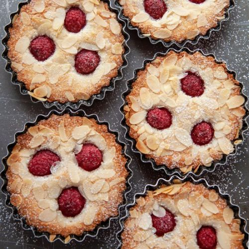 Almond Raspberry Financiers