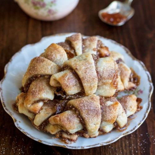 Rugelach with Fig Jam and Walnut