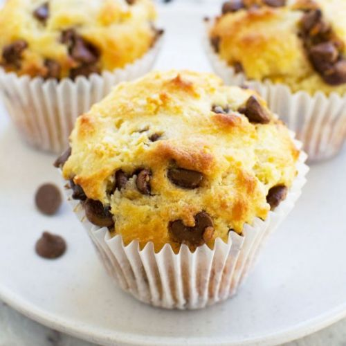 Greek yogurt choc chip muffins