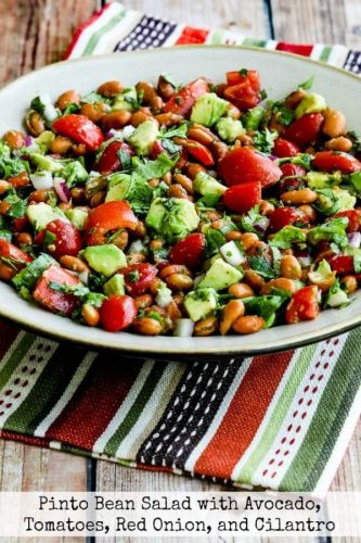 Pinto Bean Salad with Avocado, Tomatoes, Red Onion, and Cilantro