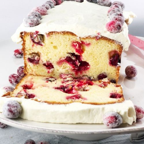 White Chocolate Cranberry Cake