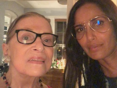 Dream Dinner Guests Padma Lakshmi and Ruth Bader Ginsburg Share a Post-Meal Selfie