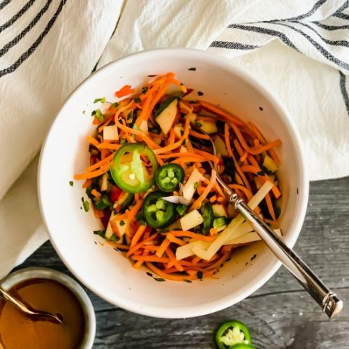 Jalapeno, Apple and Carrot Slaw
