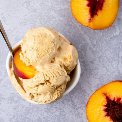 No Churn Peaches & Cream Ice Cream