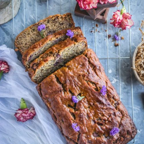 Vegan Banana & Strawberry Bread