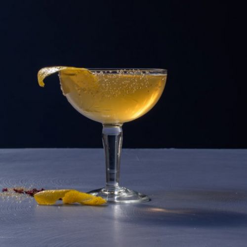 Fancy quince brandy cocktail