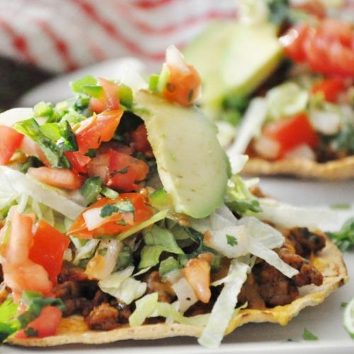 Spicy Baked Turkey Tostadas