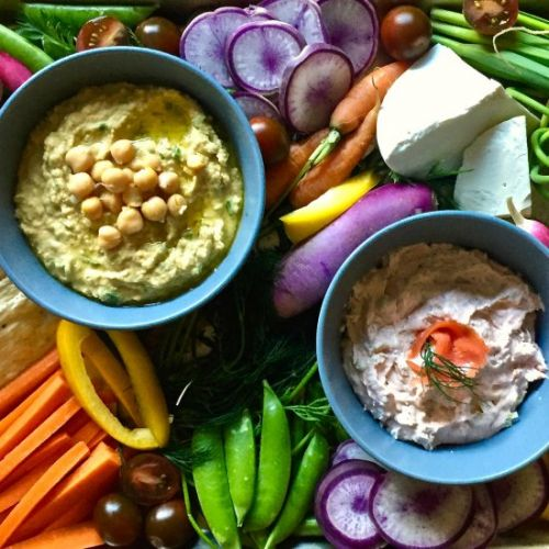 Veggie Platter with Two Dips
