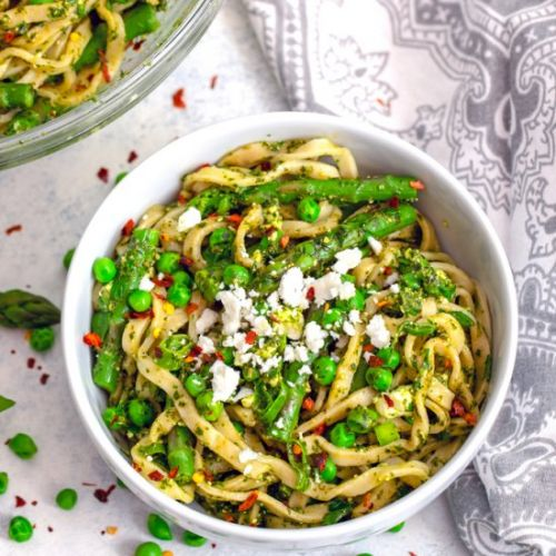 Pasta with Green Vegetables & Herbs