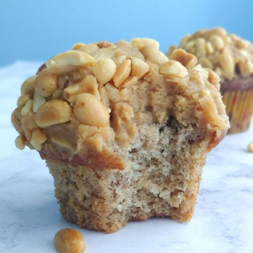 Banana Cupcakes with Peanut Butter