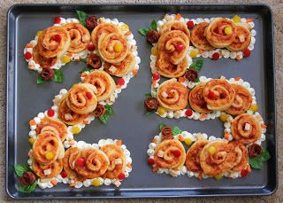 25th Anniversary Pizza Roll Cake