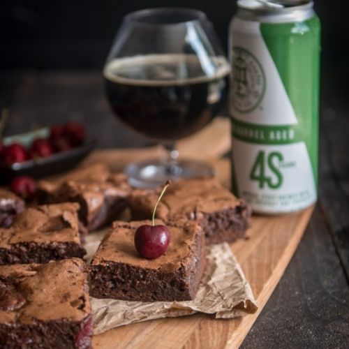 Cherry Stout Beer Brownies