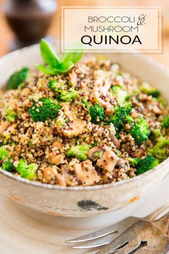Broccoli and Mushroom Quinoa