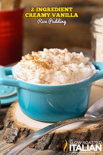 2-Ingredient Creamy Vanilla Rice Pudding