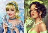 This Artist Reimagined Celebrities as Disney Princesses, and the Result Is Positively Spellbinding