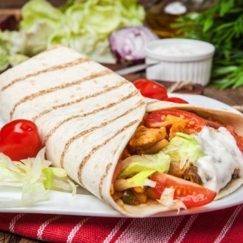 Chicken Gyros with Tzatziki Sauce