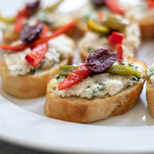 Crostini With Herbed Almond Ricotta